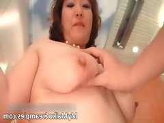 Hot asian brunette hoe gets a vibrator