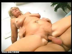 Horny blonde slut takes hot and big dick