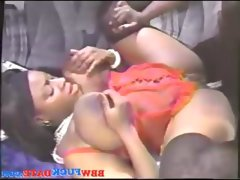 Mega fat ebony squirting breast milk..