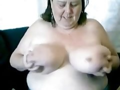 Super busty granny jane live on webcam