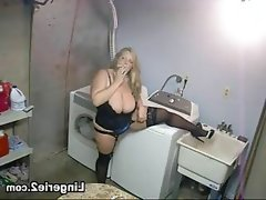 Just lingerie in the laundry room
