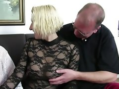 Fat german slut gets fucked hard in..