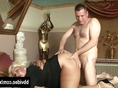 Horny german hoe gets fat tits fucked