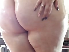 Big white cellulite ass