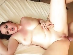 Chubby fucks and cums screaming part 2