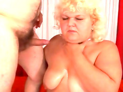 Close-up sex with a fat granny adriana