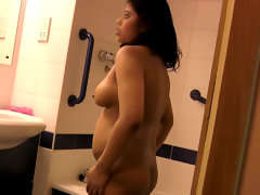 Solo scene with wet and busty indian..