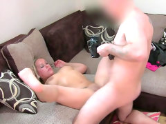 Alluring anal fingering by fake agent..