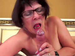Dark-haired granny love to feel this..