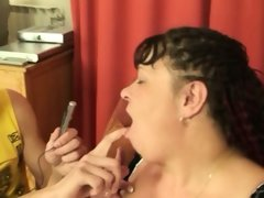 Busty mature plumper pov threesome