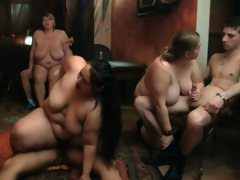 Fat ass brunette fatty gets screwed at..