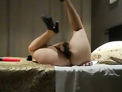 Pawg toys her anus and pussy